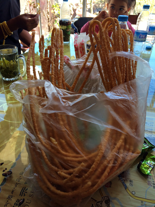A special local snack - Xiahe, Labrang Monastery, and Zhagana, Gansu Province, September 2015