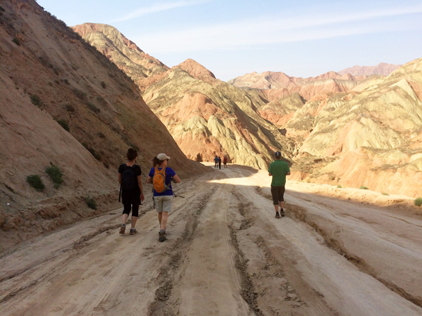 We went for a hike into the landform - Xiahe, Labrang Monastery, and Zhagana, Gansu Province, September 2015