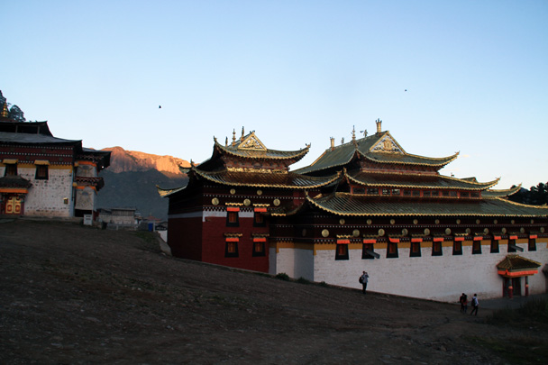 Sunset light - Xiahe, Labrang Monastery, and Zhagana, Gansu Province, September 2015