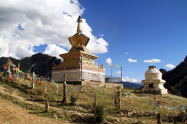 A golden pagoda - Xiahe, Labrang Monastery, and Zhagana, Gansu Province, September 2015