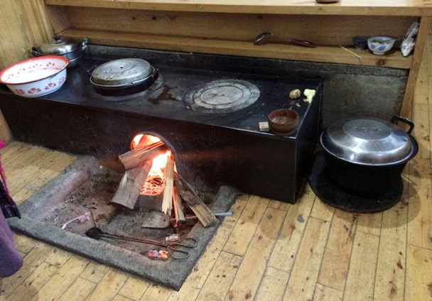 The stove at the guesthouse - Xiahe, Labrang Monastery, and Zhagana, Gansu Province, September 2015