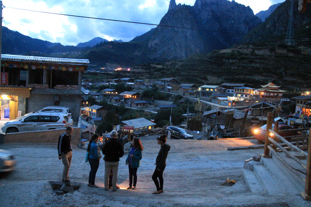 We went for an evening stroll - Xiahe, Labrang Monastery, and Zhagana, Gansu Province, September 2015