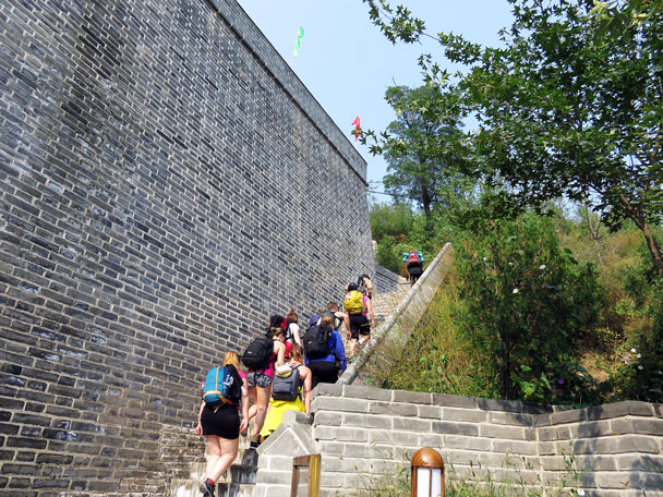 We hiked to the recently renovated North Gate of Gubeikou - Camping at the Gubeikou Great Wall, 2015/10
