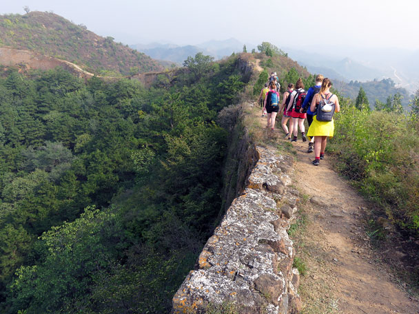 Hiking further along the Great Wall - Camping at the Gubeikou Great Wall, 2015/10