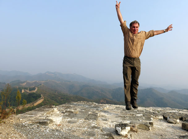 Super-hiker Hartmut - Camping at the Gubeikou Great Wall, 2015/10
