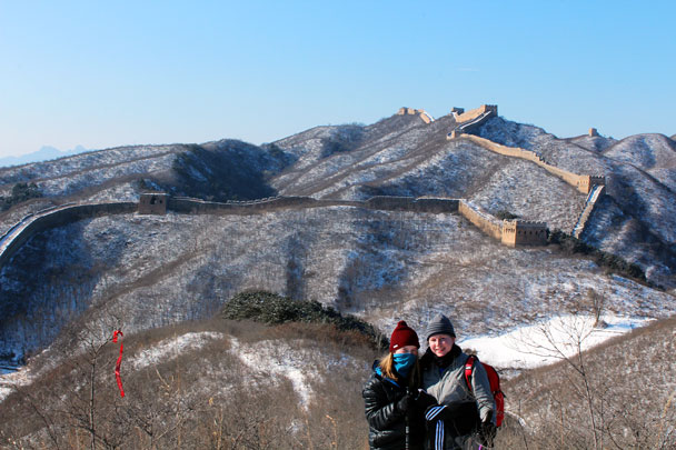 The Great Wall looks beautiful covered with snow - Hemp Village to Gubeikou Great Wall Hike, 2016/01/17