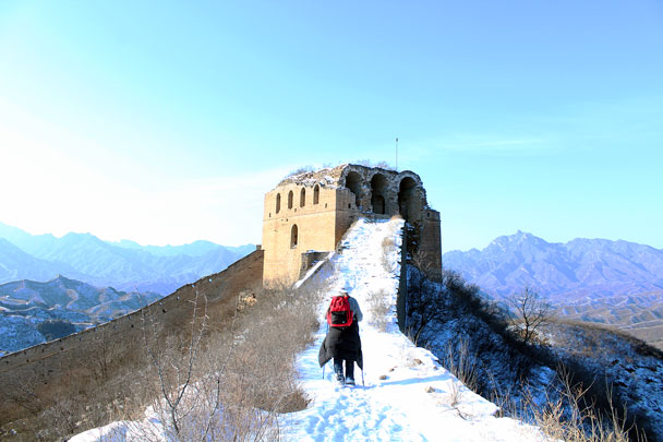 A big watch tower - Hemp Village to Gubeikou Great Wall Hike, 2016/01/17