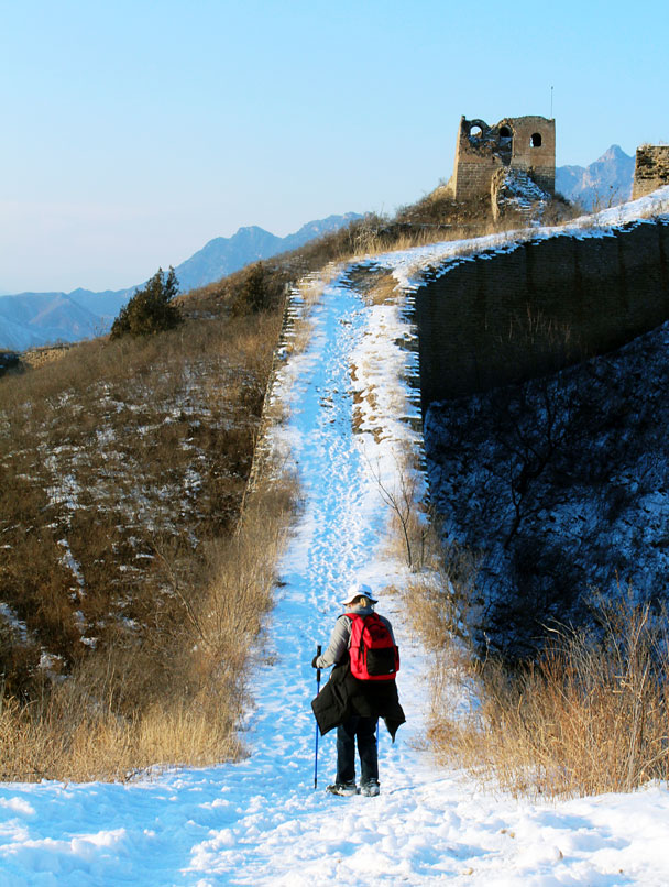 Snow on the Great Wall - Hemp Village to Gubeikou Great Wall Hike, 2016/01/17