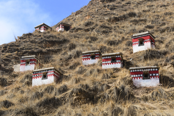 These little buildings are used for meditation - Labrang Monastery and Tibetan New Year, 2016/02
