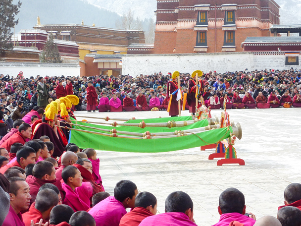 Tibetan style horn - Labrang Monastery and Tibetan New Year, 2016/02