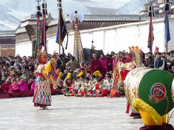 The first part of the opera - Labrang Monastery and Tibetan New Year, 2016/02
