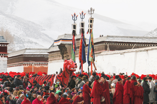 The tiger is back - Labrang Monastery and Tibetan New Year, 2016/02