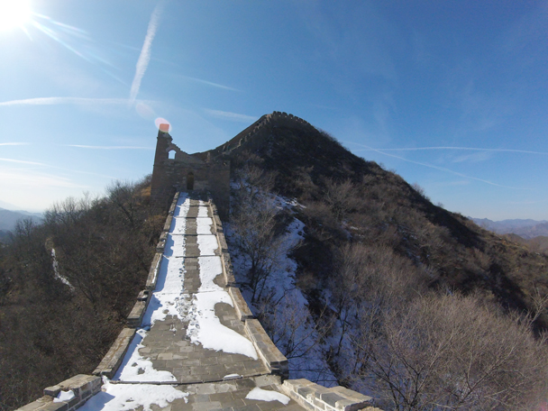 Would have been slippery here had the snow not melted - Jinshanling Great Wall, 2016/02/17
