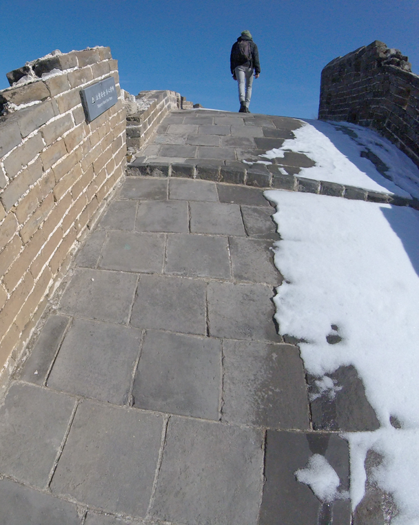And this part would have been near impossible if icy - Jinshanling Great Wall, 2016/02/17
