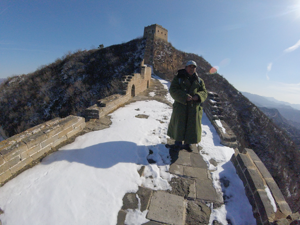 This tall tower was the end of the line for us. The tickets guy wanted us to hurry so he could lock up the gate and go home early - Jinshanling Great Wall, 2016/02/17