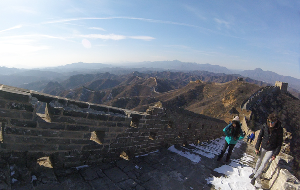 Really stunning weather made for great views - Jinshanling Great Wall, 2016/02/17
