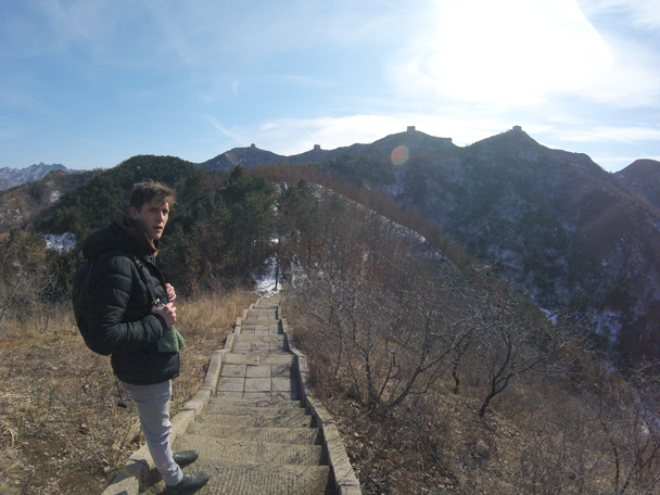 A view of the Great Wall from below - Jinshanling Great Wall, 2016/02/17