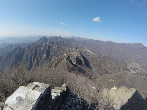 Despite the ice we made it to the top and were treated to super views - Jiankou to Mutianyu Great Wall, 2016/02/24