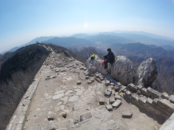 We'd continue further along the wall - Jiankou to Mutianyu Great Wall, 2016/02/24