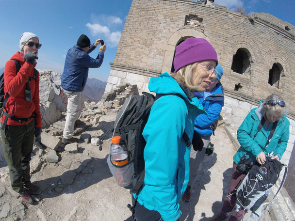 Time for some photos and snacks before continuing on to Mutianyu - Jiankou to Mutianyu Great Wall, 2016/02/24