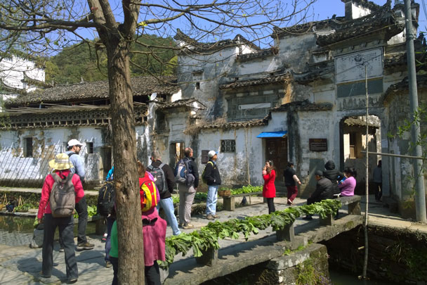 We had a guided tour of the village, taking in the architectural highlights - Wuyuan, Jiangxi Province, 2016/03