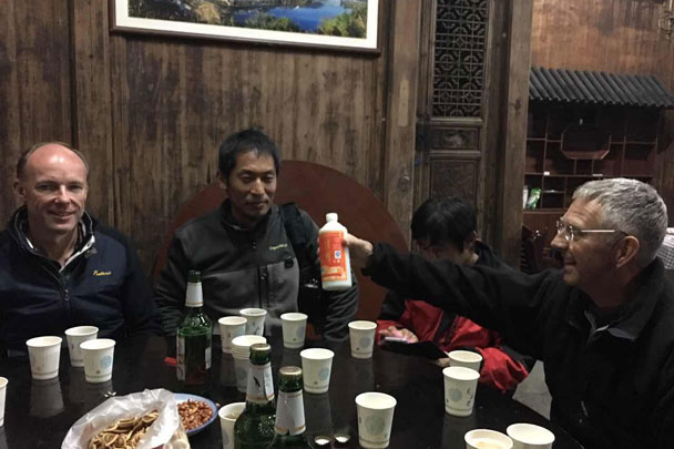 Uh-oh – they're breaking out the baijiu! - Wuyuan, Jiangxi Province, 2016/03