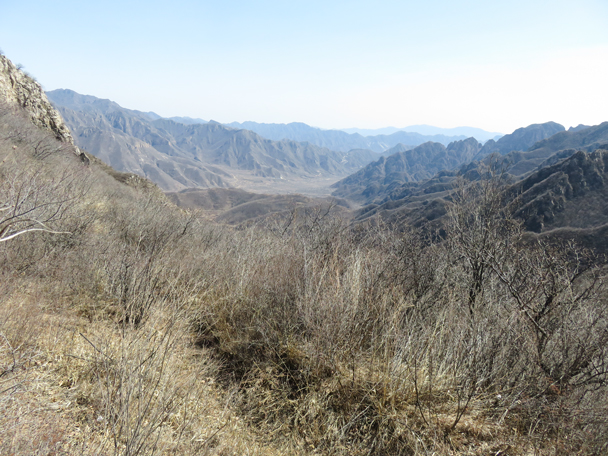 Looking back down the valley to where we started - Shuitou Village Loop hike, 2016/03/26
