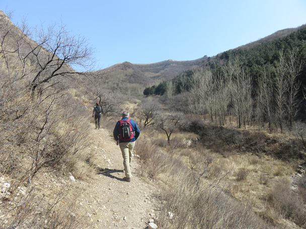 On the ridge in the distance is the Zhenbiancheng Great Wall - Shuitou Village Loop hike, 2016/03/26