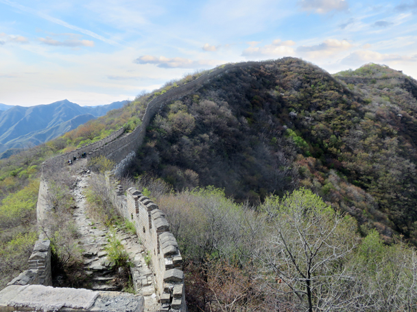A view of where we'd camp - Great Wall Spur camping, 2016/4/16