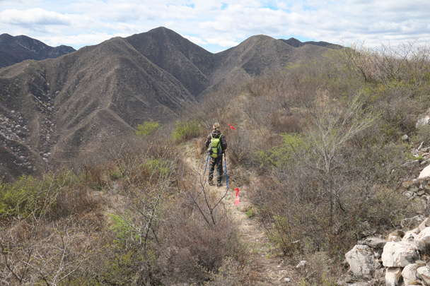 We hiked hill trails to finish the loop - Stone Valley Great Wall Loop, 2016/4/16