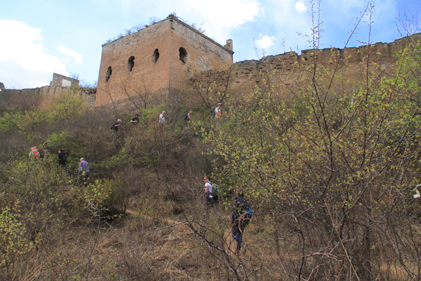 Almost up on the wall - Hemp Village to Gubeikou Great Wall, 2016/4/17