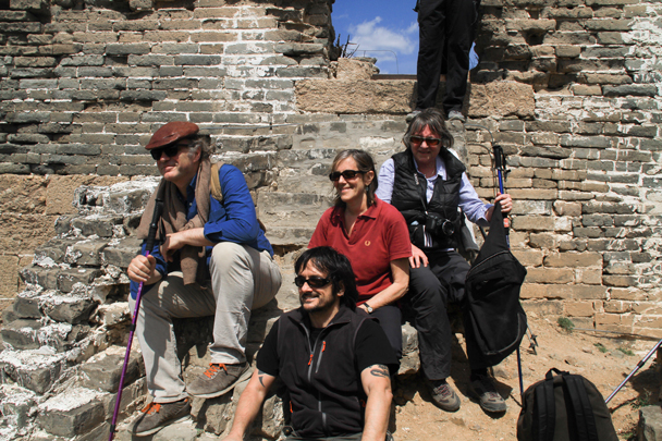Four of our favourite regular hikers - Hemp Village to Gubeikou Great Wall, 2016/4/17