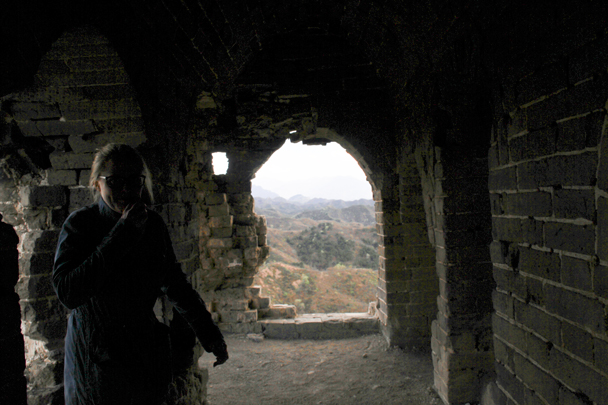 Shady inside a tower - Hemp Village to Gubeikou Great Wall, 2016/4/17