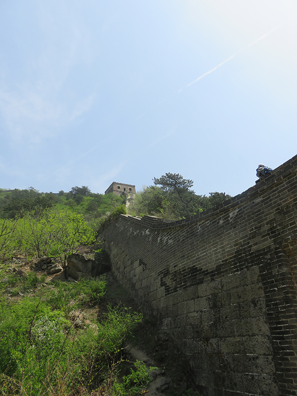 A view of the wall at Zhuangdaokou - Big Black Mountain to Moss Mountain, 2015/04/30
