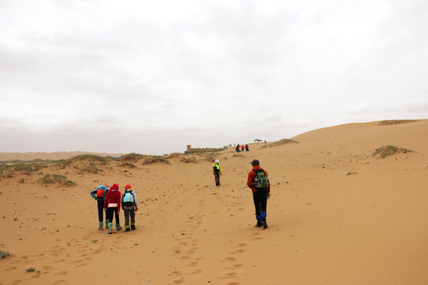 Nearing the end of our hike - Tengger Desert, May 2016