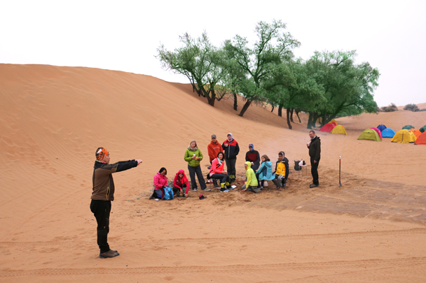 An impromptu taichi session - Tengger Desert, May 2016