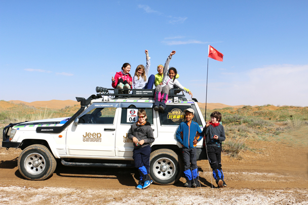 Posing with the jeep - Tengger Desert, May 2016