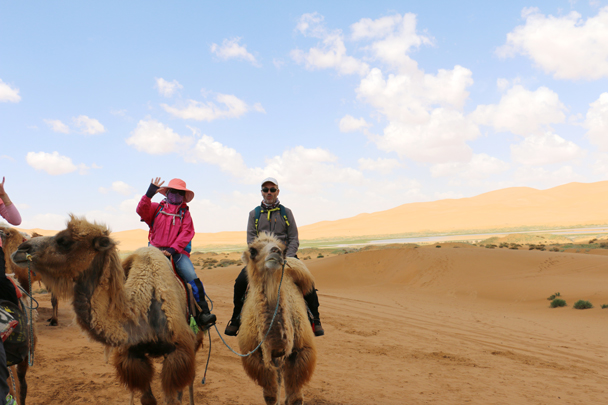 It was a two-hour camel ride to get to Moon Lake - Tengger Desert, May 2016