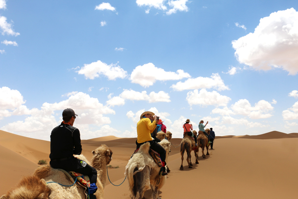 We rode for about two hours, and that was tiring. Imagine going all the way along the Silk Road on a camel - Tengger Desert, May 2016