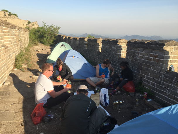 The campsite is set up, and it's time for a rest - Camping at the Great Wall Spur, 2016/05
