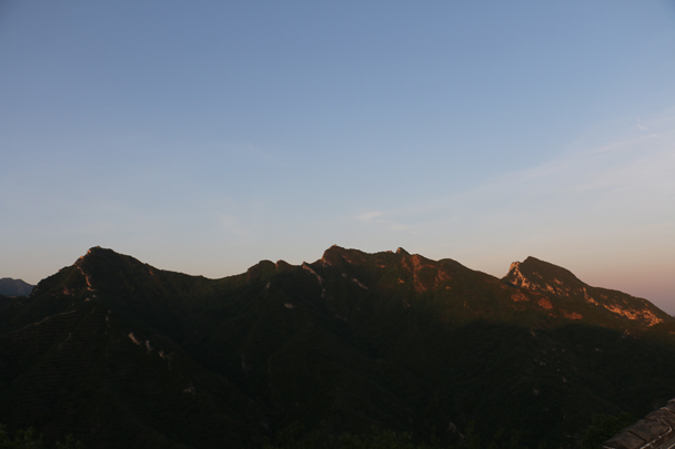 Looking over towards Jiankou - Camping at the Great Wall Spur, 2016/05