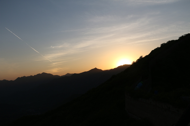 The sun is almost gone - Camping at the Great Wall Spur, 2016/05
