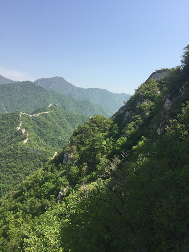 Looking over towards Nine-Eyes Tower - Camping at the Great Wall Spur, 2016/05