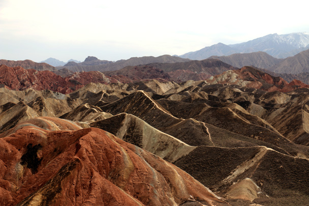 Views of the hills - Zhangye Danxia Landform and Jiayuguan, May 2016