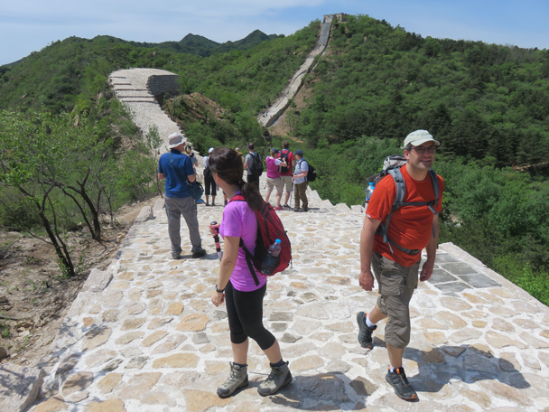 Looking back over all of the stairs that we have climbed - Longquanyu Great Wall to the Little West Lake, 2016/05/04