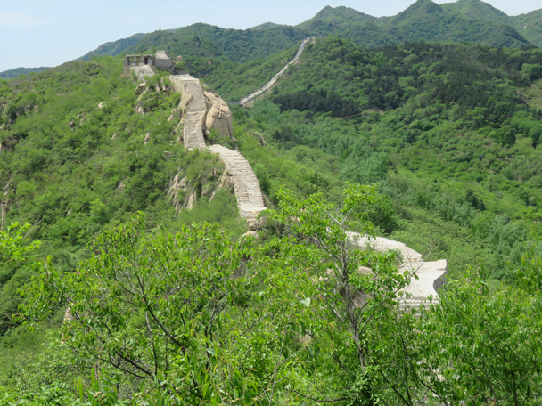 A look back at the wall and nature - Longquanyu Great Wall to the Little West Lake, 2016/05/04