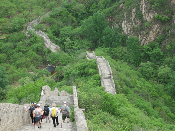 The last section of Great Wall on this hike - Longquanyu Great Wall to the Little West Lake, 2016/05/04