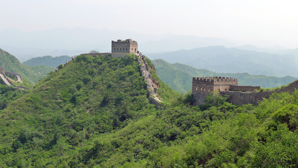 Our first look at the Jinshanling Great Wall - Gubeikou Great Wall to Jinshanling Great Wall, 2016/5/28