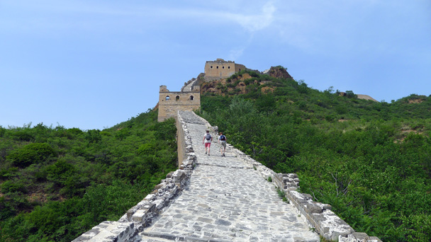 This section doesn't look so steep, but your legs will tell you otherwise - Gubeikou Great Wall to Jinshanling Great Wall, 2016/5/28