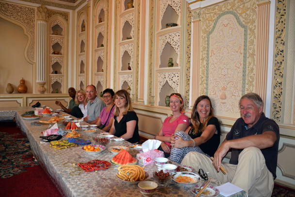 Lunch at the local people's home outside of Kashgar City - Along the Silk Road from Korla to Kashgar, June 2016